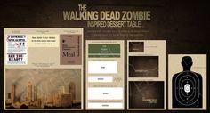 RUSH ORDER Walking Dead Zombie Undead Printable by HelloMySweet