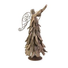 Sweet Christmas Ornaments for Xmas Home Decoration : Imax Woodland FreeStanding Driftwood Angel with Trumpet Christmas Home Decoration Feature Angelic Accent Piece with Rustic Charm also Driftwood Resin and Iron Construction Christmas Angels, Christmas Home, Christmas Crafts, Christmas Ornaments, Christmas Ideas, Christmas Decorations, Angel Ornaments, Angel Silhouette, Driftwood Crafts