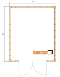 1012 shed plans -gambrel shed floor view - Modern 12x20 Shed Plans, Pallet Shed Plans, Diy Storage Shed Plans, Shed Floor Plans, Small House Floor Plans, Lean To Shed Plans, Shed Building Plans, Diy Shed, House Plans