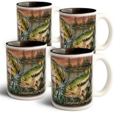 American Expedition Collage Coffee Mugs, Multicolor