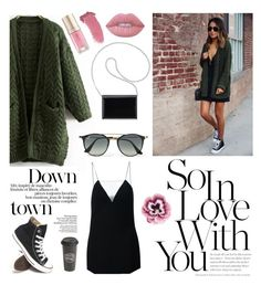 """""""little black dream"""" by irixiketa ❤ liked on Polyvore featuring Alexander Wang, Nine West, Ray-Ban, Converse, Lime Crime, Margaret Dabbs, Gucci, Nourison, The Created Co. and sincerelyjules"""