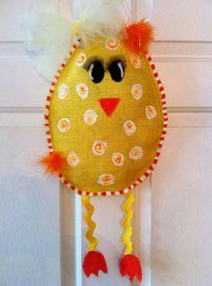 Easter Burlap Door Hanger by 2CreativeGirls on Etsy, $23.00