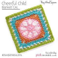 "Posy Wheel 6"" Crochet Square... FREE PATTERN!"