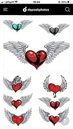 Tattoo Hearts, Playing Cards, Tattoos, Tatuajes, Playing Card Games, Tattoo, Game Cards, Tattos, Playing Card