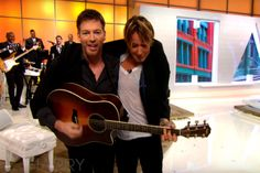 During an appearance on Harry Connick Jr.'s talk show, 'Harry', Keith Urban and Connick Jr. took part in a jam session together.