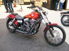 Harley-Davidson 2013 FXDWG Dyna® Wide Glide® with Black Street Slammer Handlebars, Vance & Hines Competition 2into1 Exhast and a Black Heavy Breather with the Cut Back Black Cover
