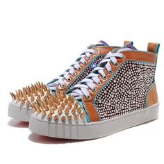Noticeable & Discount Christian Louboutin Louis Jeweled Spikes Sneakers Multicolor Outlet | Cheap Christian Louboutin Men Sneakers