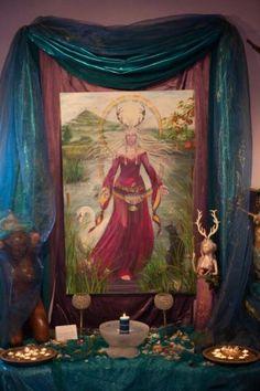 Glastonbury Goddess Temple. Painting by Caroline Lir.