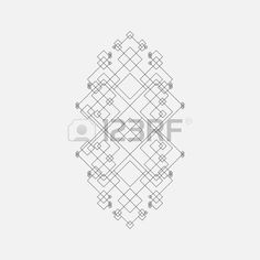 Abstract geometric element, squares, line design
