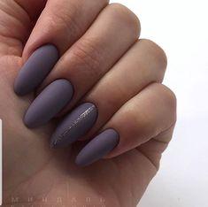Lavender prom nail art designs to try this year matte purple nails, purple nail Stylish Nails, Trendy Nails, Winter Nails, Spring Nails, Nail Polish Designs, Nail Art Designs, Nails Design, Love Nails, Fun Nails