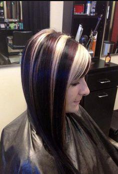 Dramatic Highlights, Chunky Highlights, Geri Halliwell, Multicolored Hair, Spice Girls, Rainbow Hair, Ivanka Trump, Cut And Color, Dyed Hair