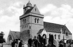 Old photograph of the church in Chirnside in the Borders of Scotland. This is the last resting place of Jim Clark, former world champion Formula One racing car driver.