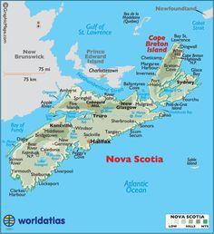 nova scotia large color map