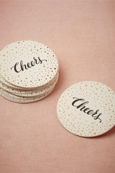 Cheers! Love these cute coasters from BHLDN. http://www.bhldn.com/shop-new-decor/cheers-coasters/productoptionids/d6588c0c-04f9-46b0-b5da-0086a7a09584