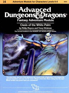 I4 Oasis of the White Palm (1e) | Book cover and interior art for Advanced Dungeons and Dragons 1.0 - Advanced Dungeons & Dragons, D&D, DND, AD&D, ADND, 1st Edition, 1st Ed., 1.0, 1E, OSRIC, OSR, Roleplaying Game, Role Playing Game, RPG, Wizards of the Coast, WotC, TSR Inc. | Create your own roleplaying game books w/ RPG Bard: www.rpgbard.com | Not Trusty Sword art: click artwork for source