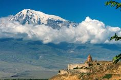 Snow-capped Mount Ararat is seen from the Khor Virap monastery in Armenia. The 5165-m-high Ararat, also known as Agri Dagi, is Turkey's highest and easternmost volcano, lying near the border with Armenia. Ararat appears to have been active during the 3rd millennium BCE; pyroclastic-flow deposits overlie early Bronze Age artifacts and human remains. A phreatic eruption and pyroclastic flow may have occurred at the time of a July 1840 earthquake and landslide.