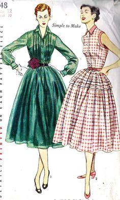 1950s Misses Shirtwaist Dress Vintage Sewing by MissBettysAttic, $12.00