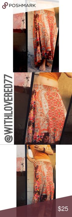 Boho Motherhood Maternity Cotton Floral Skirt SZ S Boho Motherhood Maternity Cotton Floral Skirt SZ S 🌼 Can Be Worn As A Low Waisted Skirt As Well As Seen In Pics 🌼 Waist Band Is Stretchy Material Motherhood Maternity Skirts High Low