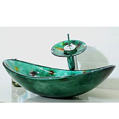 modern - badkamer wastafel set - gehard glas - gehard glas, Badkamer
