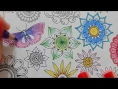 Secret Garden Coloring Book (Page 11) - YouTube