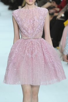 Love this pink lace gown from Elie Saab's Spring 2012 Couture collection.