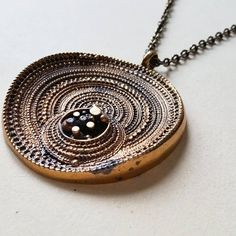 "Large Jorma Laine Bronze ""Sombrero"" Necklace, Turun Hopea, Finland, 1970s (F1040)#vintagebronze #vintagenecklace #vintagejeweley #bronzenecklace #sombrero #jormalaine #turunhopea #turunhopeaoy #midcenturymodern #midcentury #finnishjewelry #finnishbronze #finnishdesign Bronze, Pocket Watch, Silver Jewelry, Finland, Pendant Necklace, Handmade, Etsy, Vintage, 1970s"
