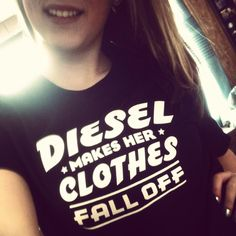 DieselTees~ DIESEL MAKES HER CLOTHES FALL OFF tee selfie | Let us know your choice, Visit www.DieselTees.com #dieseltees #dieselshirts
