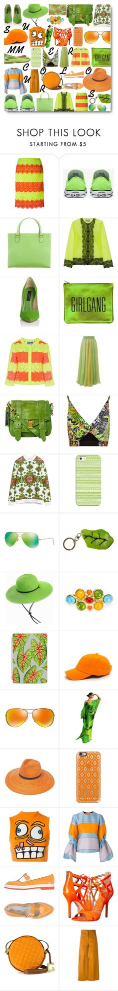 """""""summer colors"""" by myenglishmood ❤ liked on Polyvore featuring Moschino, Kate Spade, Christopher Kane, Sarah Baily, Chicwish, Proenza Schouler, Versace, Givenchy, Casetify and Ray-Ban"""