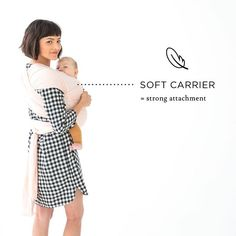 """Tuesday Tip // """"83% of 13 month old children had a secure attachment to their mothers after using a soft baby carrier like the #sollybaby wrap."""" via Dr. Maria Blois 