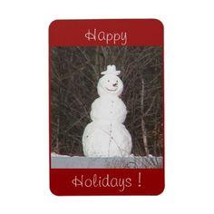 Snowman Holiday Fridge Magnet  http://www.zazzle.com/snowman_premium_flexi_magnet-160193095274233157?rf=238232710640538046