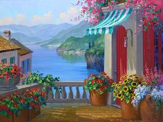 Lake Como Reflections by Mikki Senkarik