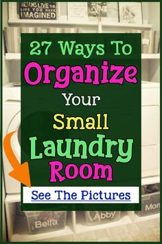 Small Laundry Room Organization Ideas - Decluttering Your Life Laundry Room Baskets, Tiny Laundry Rooms, Laundry Room Shelves, Laundry Room Cabinets, Laundry Room Organization, Organization Ideas, Organizing, Storage Ideas, Laundry Closet
