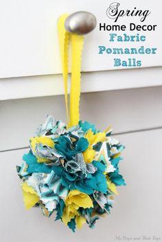 DIY Spring Decor : DIY Spring Home Decor: DIY Fabric Pomander Balls