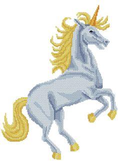 Unicorn cross stitch for machine embroidery