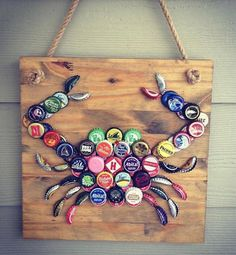 Customize your own crab! The crab is my most popular item, and each one is a little different from the next. For this option, you can choose your favorite wood stain/paint option as well as which caps you would like me to use. Every crab will be on a 12x12-inch piece of wood. It easily