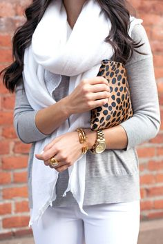 Spice up a neutral look with an animal printed clutch. They're perfect for short shopping trips or lunch with friends.