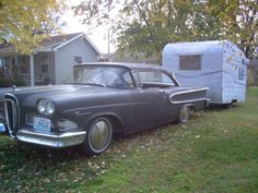 Great old car & camper...