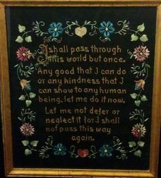 Lessons from my Grandma's Sampler - honoring women in your family history for mother's day