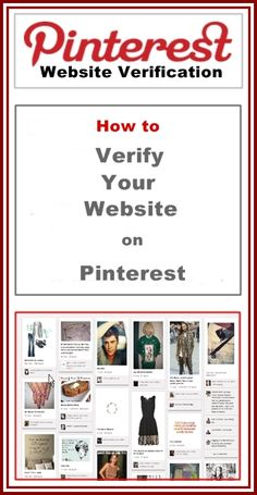How to verify your website on Pinterest. ~ #verifyyourwebsiteonpinterest