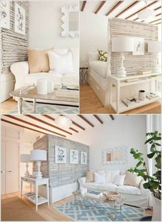 Home decor ideas for small living room Couches For Small Spaces, Small Living Rooms, Living Room Designs, Living Room Decor, Bedroom Small, Living Spaces, Decor Room, Trendy Bedroom, Small Desks