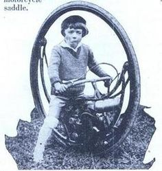 Who was the maker of the monowheel motorcycle?