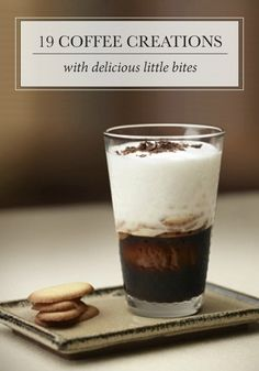 Whether you're looking to start your day off right or end your night with a tasty treat, this collection of coffee creations and little bites is sure to please your cravings. Click to find your favorite pairings today.