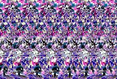Stereograms are images hidden within another picture. In order to view the images, simply stare at the picture until the image starts to take shape. Trust me this is not what I thought it was. 3d Hidden Pictures, Hidden 3d Images, Magic Eye Pictures, 3d Pictures, 3d Illusion Art, Eye Tricks, Mind Tricks, 3d Stereograms, Eye Illusions