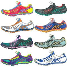 Check out these #ASICS Cross Freak #running shoes that were designed by Cross Country #runners at the Foot Locker Cross Country Championships. Vote on your favorite design at Facebook.com/ASICSamerica