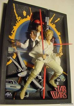 from $58.99 - #StarWars Resin 3d Movie Poster Code 3 Comic-con New Hope Chaykin Lightsaber 70s