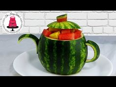 Carve A Teapot Fruit Centerpiece - How To With The Icing Artist