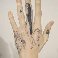 Marc Chagall, handpoked tattoo  #tattooist_doy