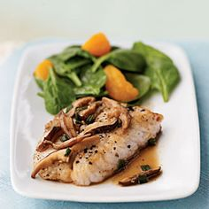 Serve with a spinach and mandarin orange salad. You can substitute snapper or rainbow trout for the bass, if you wish.