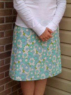 crazy mom quilts: vintage sheet skirt