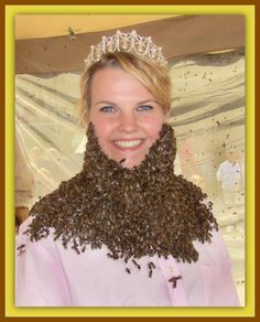 Have you ever seen bee beards?